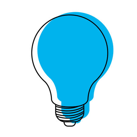 light bulb icon blue watercolor silhouette vector illustration Illustration