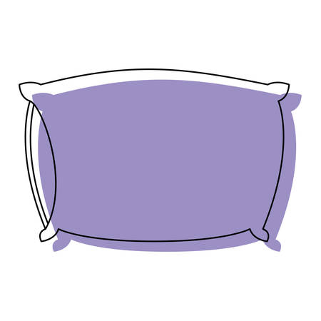 bed pillow purple watercolor silhouette on white background vector illustration