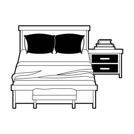 Dormitorio Con Libros Sobre La Silueta De La Sección De Color Negro ...