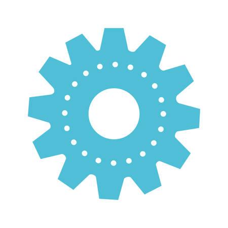 silhouette colorée de machines à engrenages sur illustration vectorielle fond blanc