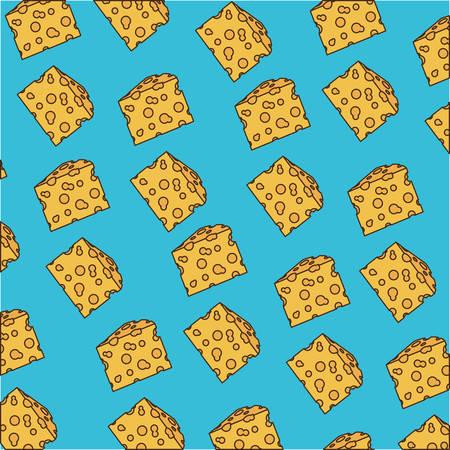 Cheese piece pattern illustration.