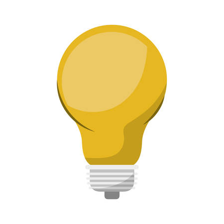 Light bulb colorful icon and shading vector illustration Illustration