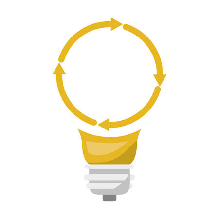 Light bulb with reload icon and shading vector illustration Illustration