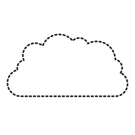 cloud storage data service icon in monochrome silhouette dotted vector illustration Illustration