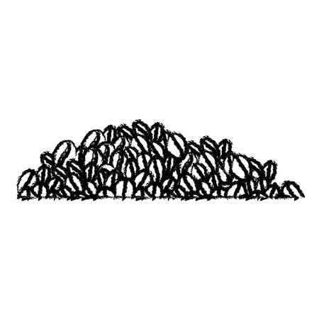 coffee beans monochrome blurred silhouette vector illustration