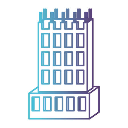 building under construction gradient color silhouette from blue to purple vector illustration