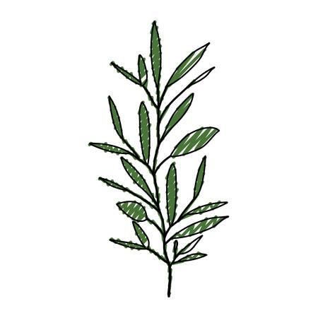 Silueta De Crayón De Color Verde Claro De Pequeña Ilustración De ...