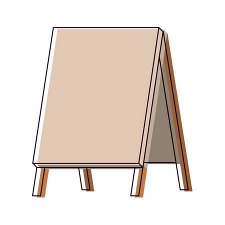 outdoor blank billboard: wooden empty blank advertising street watercolor silhouette on white background vector illustration Illustration