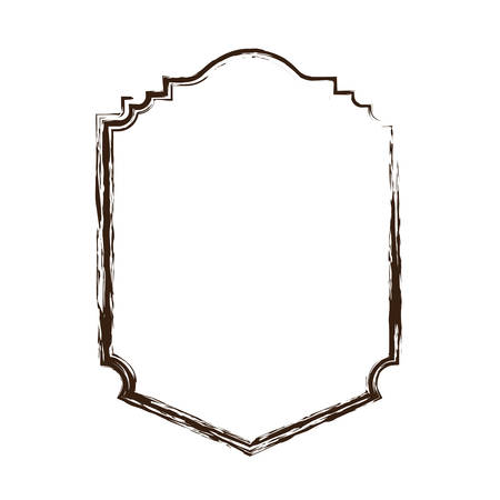 victorian wallpaper: heraldic monochrome silhouette decorative frame and blurred vector illustration Illustration