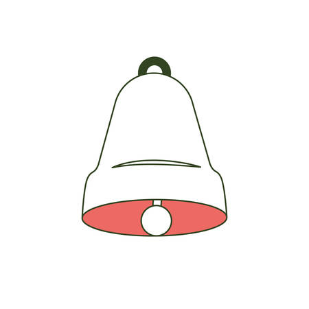 bell front view on color section silhouette vector illustration
