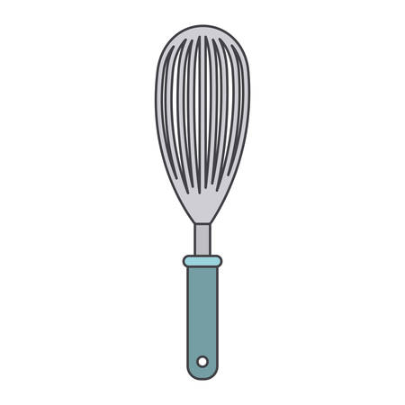 Whisk kitchen utensil in colorful illustration. Illustration