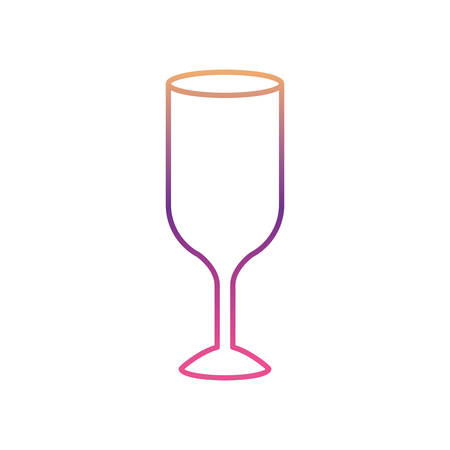 Wine glass silhouette gradient color from magenta to purple vector illustration Illustration