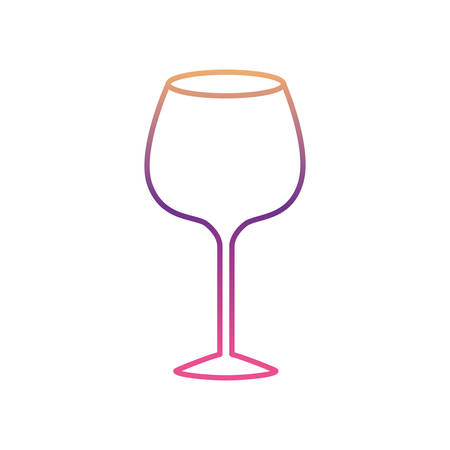 Glass of champagne sour silhouette gradient color from magenta to purple vector illustration. Illustration