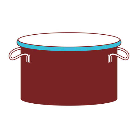 cooking pot color sections silhouette vector illustration Illustration