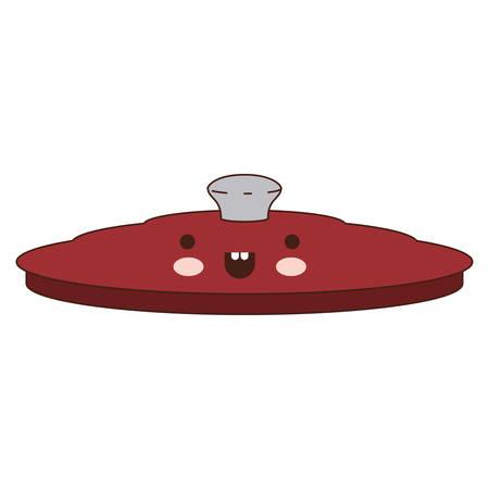 Pequeña Olla De Cocción De Dibujos Animados De Color Rojo O