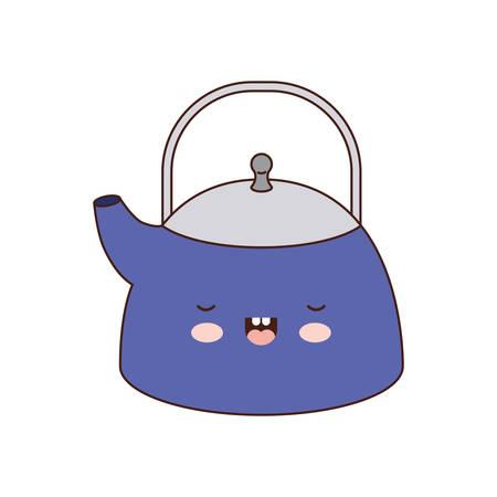kettle jar colorful silhouette vector illustration Illustration