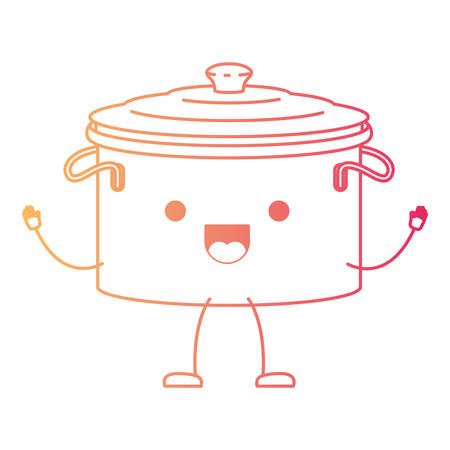 Cooking pot with lid cartoon character.