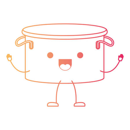 Cooking pot without lid cartoon character.