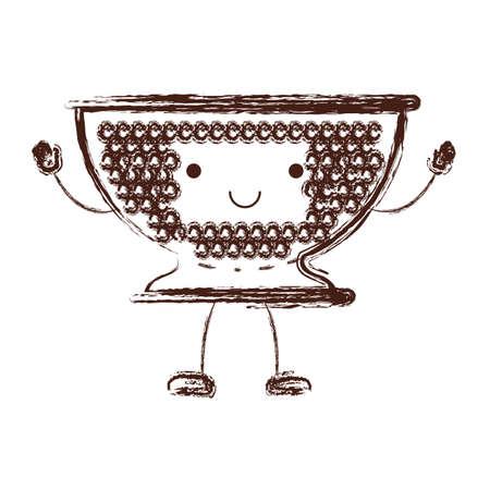 Kitchen drainer cartoon character. Illustration