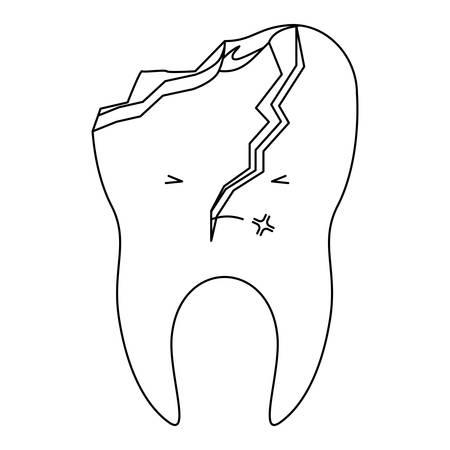 Broken Tooth Diagram