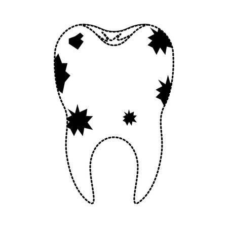 dientes sucios: Icono de diente sucio. Vectores