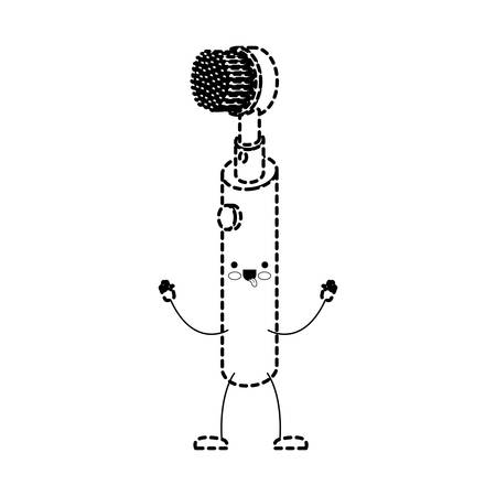 Electric toothbrush cartoon. Illustration
