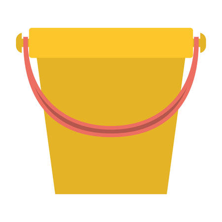 antiseptic: bucket with handle in colorful silhouette vector illustration