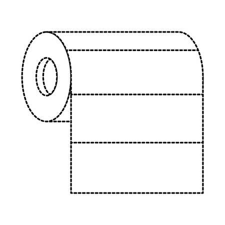 rotolo di carta assorbente in bianco e nero punteggiato silhouette illustrazione vettoriale