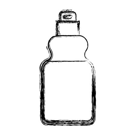 detergent bottle icon in monochrome blurred silhouette vector illustration Illustration