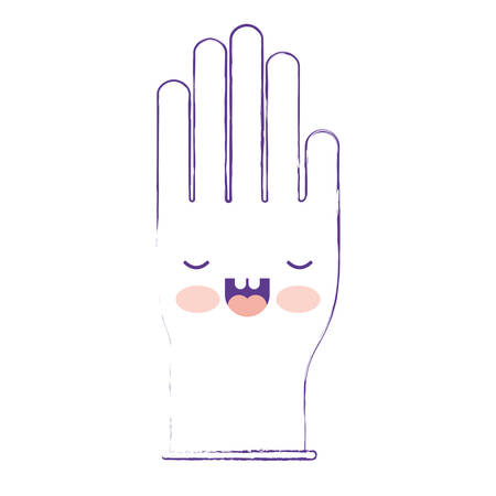 kitchen cleaning: single glove in purple blurred silhouette vector illustration Illustration