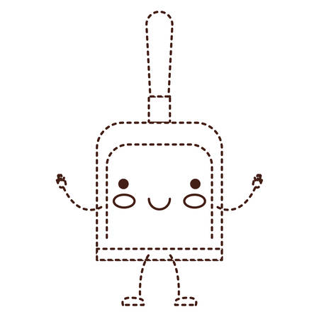 Hand dustpan cartoon character.
