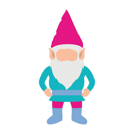 gnome without face and costume colorful on white background vector illustration
