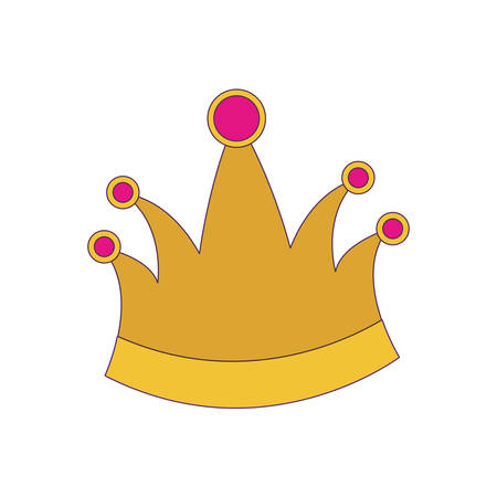 king crown with purple contour vector illustration Illustration