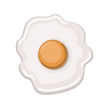 fried egg colorful silhouette in white background vector illustration Illustration