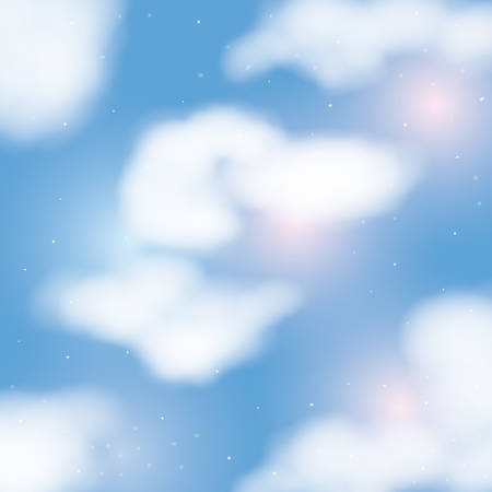 moonlight background over cloudiness sky vector illustration