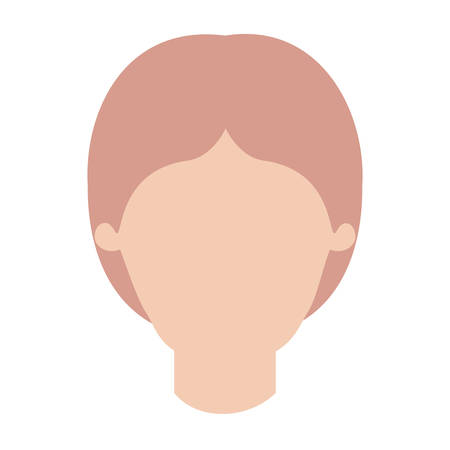faceless man with middle part hairstyle in colorful silhouette vector illustration