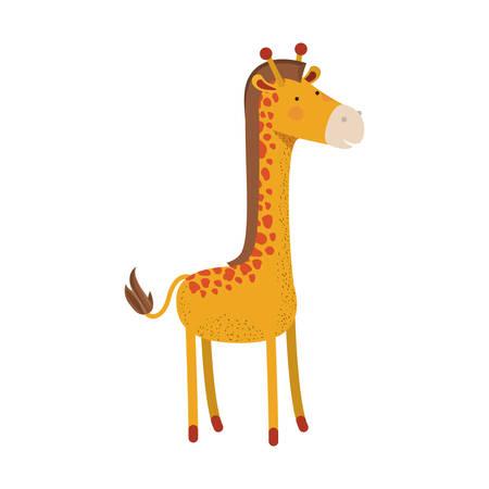 Giraffe cartoon colorful silhouette.