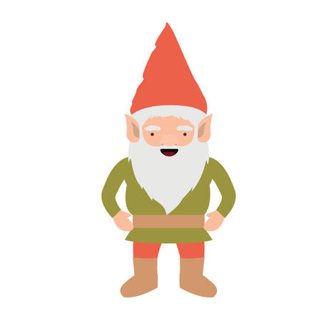 gnome with costume colorful on white background vector illustration Illustration