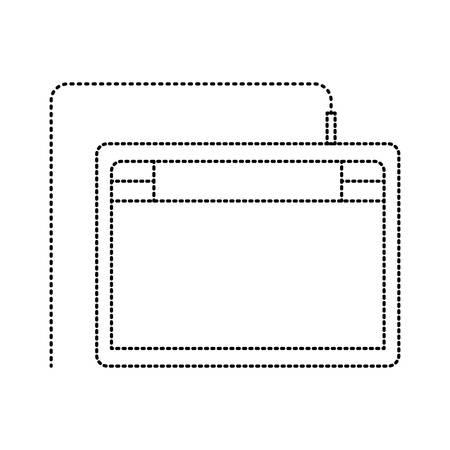 digitizer tablet draw digital pen touch screen vector illustration Ilustração