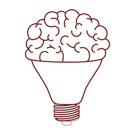 Brain science mind intelligence mental design creative think vector illustration