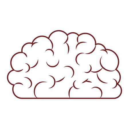 Brain science mind, intelligence mental design. Creative think vector illustration. Illustration