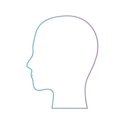 human head people model face profile avatar vector illustration