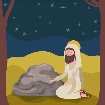 Holy week biblical scene design