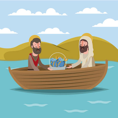 holy week biblical scene vector illustration design