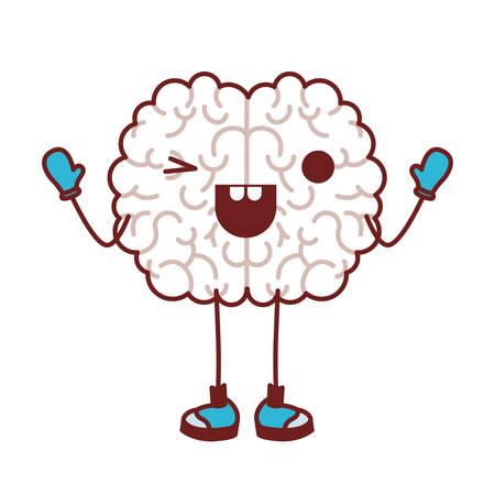 Comic brain vector illustration design