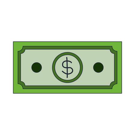 Bill dollar money icon vector illustration design Çizim
