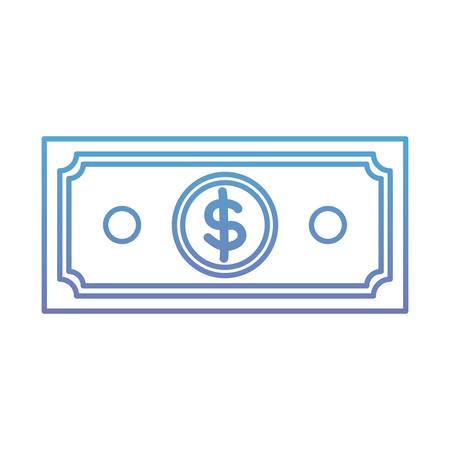 A bill dollar icon vector illustration design
