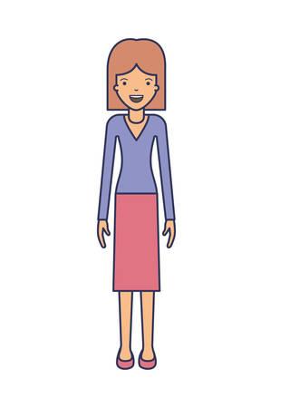 Elegant businesswoman avatar character vector illustration design. Illustration