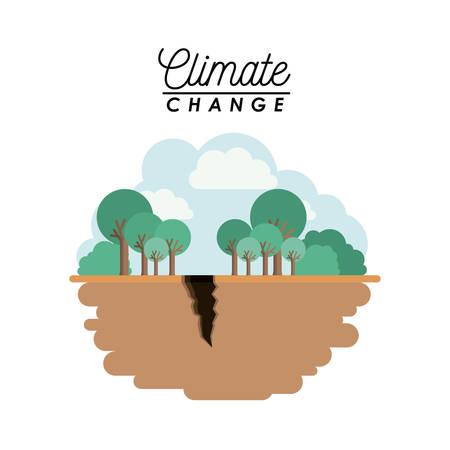 Effects of climate change vector illustration design, breaking ground in cartoon illustration. Illustration