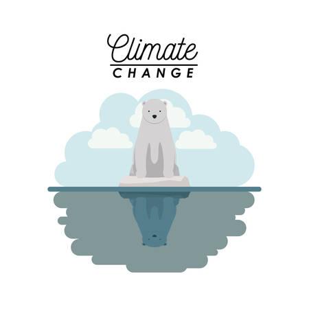 effects of climate change vector illustration design Stock Illustratie